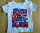 NEW Marvel SpiderMan Action Figure T-Shirt Boys Grey Cotton Spidey Size 2T /24Mo
