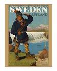 Sweden Lappland - Reproduction Vintage Travel Poster