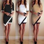 New Sexy Women Bandage Bodycon Asymmetric Evening Party Cocktail Club Mini Dress