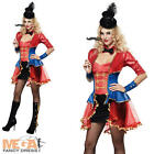 Sexy Ringmaster + Hat Fancy Dress Circus Ladies Carnival Womens Costume Outfit