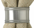 Beaded Pewter Napkin Rings by Park Designs, Classic Elegance, Choice of Sets