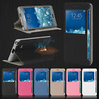 PU Leather Flip Cover for Samsung Galaxy Note Edge S-View Window Phone Case