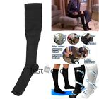 Nylon Compression Stockings Soothe Tired Achy Legs Tight Socks Black/ White New