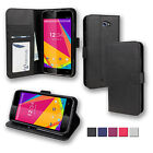 BLU Phone Case Folio Wallet Case Smartphone Flip Cover Stand PU Leather