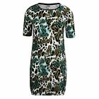 VERO MODA MEDINE MIA WOMENS GREEN WHITE BLACK SHORT SLEEVE DRESS