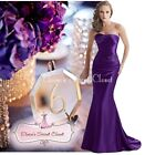 DALLAS Cadbury's Purple Beaded Embellished Bridesmaid Ballgown Dress UK 6 - 18