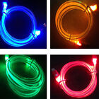 LED Light Up Data Sync Charging Charger Cable Cord For iPhone 3 3GS 4 4S 3 Color