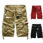 Men's Summer Plain Shorts Cargo Combat Cotton Shorts Pant Trousers Top Designer