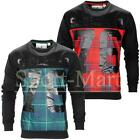 Mens Soulstar Check Tartan Print Crew Neck Sweatshirt Long Sleeve Jumper Size