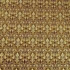 Baroque Design, Ivory & Brown Gilded in Metallic Gold, Cotton Fabric by Hoffman