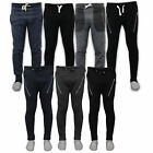 Joggers Pants Men Skinny Slim Fit Cuffed Gym Workout Track Zip