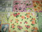 2x A4 NDC Decoupage Floral Roses Lillies, White, Purple, Orange Various Designs