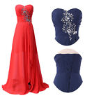 Women Long Beads Party Bridesmaid Evening Formal Cocktail Prom Homecoming Dress
