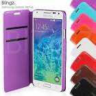 New Flip Wallet Leather Phone Pouch Case Cover for Samsung Galaxy Alpha
