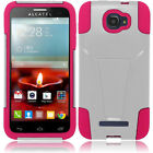 For Alcatel OneTouch Pop Icon Advanced Layer HYBRID KICKSTAND Rubber Case Cover