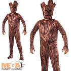 Groot + Mask Boys Fancy Dress Guardians of the Galaxy Marvel Kids Childs Costume
