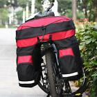 60L Cycling Bike Bicycle Double Side Rear Tail Seat Pannier Bag Rack Trunk HOT