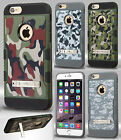 Apple iPhone 6 6S Plus Rubberized Tuff Trooper HYBRID KICKSTAND TPU Case Cover