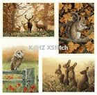 DMC - WOODLAND ANIMALS CROSS STITCH KIT (Choose From Four)