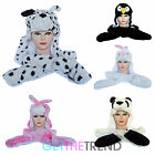 Boys Girls Animal Scarf Mittens Trapper Hat Kids Novelty Bunny Penguin Fur Hat
