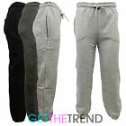 Mens Plain Fleece Lined Joggers Mens Jogging Bottoms Pants Pockets S M L XL