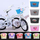 Girls Bike Bicycle Cycle Front Basket Flowery Shopping Stabilizers Children Kids