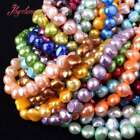7-8MM FREEFORM FRESHWATER NATURAL PEARL JEWELRY MAKING GEMSTONE BEADS STRAND 15""