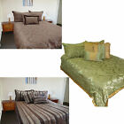 6 Pce Jacquard Comforter + 2 Pillowcases + 3 filled Cushions DOUBLE QUEEN KING