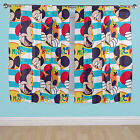 Disney Mickey Mouse Boo Blue Stripey Boys Childrens Bedroom Ready Made Curtains