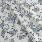 per 1/2 metre/FQ Eliza Rose Cream & grey fabric 100% COTTON POPLIN