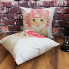 Lovely Beauty Cat Animal Sofa Decor Throw Pillow Case Cushion Cover Square 18""