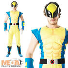 Wolverine Deluxe Costume Mens X-Men Comic Book Movie Adult Fancy Dress Outfit