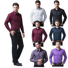 CHEAPEST SALE New Luxury Shirts Mens Casual Formal Slim Fit Shirt Top S M L XL