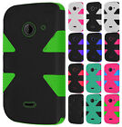 T-Mobile ZTE Zinger IMPACT TUFF HYBRID Protector Case Skin Phone Cover Accessory