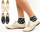 Womens ladies casual lace up flat smart brogue office formal oxford shoes size