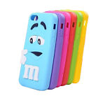 3D M&M Silicone Back Cover Skin Case For Apple iPhone 4/4S 5/5S 5C iPhone 6 6P