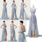 Long High Low Evening Cocktail Festival Gown Prom Party Bridesmaids Dresses 2-16