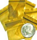"Gold baggies 1.5 x 1.5"" Apple reclosable mini ziplock bags 100 200 500 1000"