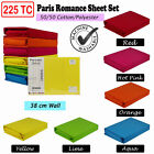 Paris Romance 225TC Thread Count Cotton Polyester Sheet Set 5 Sizes 6 Colours