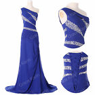 Blue BEADED BODYCON MAXI Bridesmaid Ball Gown Evening Cocktail Party Prom Dress