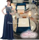 BNWT YVETTE Navy Blue Embellished Chiffon Prom Evening Bridesmaid Dress UK 6 -20