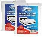 Waterproof Fitted Mattress Protector Cover Pillow Sheet | SINGLE DOUBLE