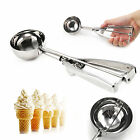 New Stainless Steel  Scoop for Ice Cream Mash Potato Food Spoon Kitchen Ball
