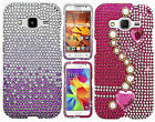 Samsung Galaxy Core Prime Crystal Diamond BLING Hard Case Cover +Screen Guard