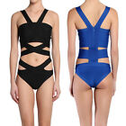 TheMogan Cut Out Bandage Swimsuit Beach Pool Party One-Piece Bodysuit