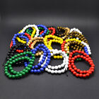 1x New Hiphop Good Quality Handmade 8mm Plain Multilayer Wood Beads Bracelet