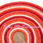 3X5MM RONDELLE NATURAL CORAL GEMSTONE SPACER JEWELRY MAKING BEADS STRAND 15""