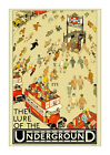 The Lure of the Underground - Vintage London Tube Poster