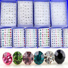 48PCS Wholesale Lot Charming Clear Rhinestone Crystal Ear Studs Earrings CHIC