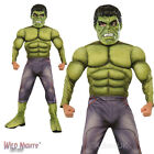 BOYS AVENGERS 2 DELUXE HULK MARVEL SUPERHERO FANCY DRESS COSTUME Age of Ultron